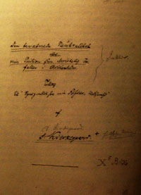 The Title Page in Kierkegaard's Hand